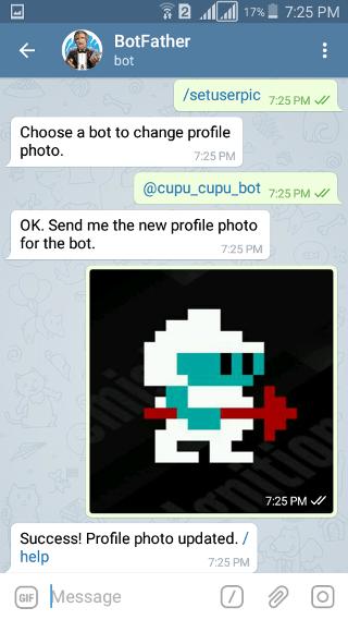 @botfather: Telegram Bot: setuserpic