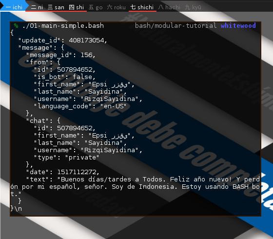 BASH: Telegram Bot: Observe Script