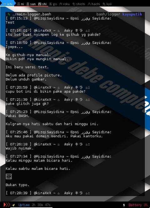 BASH: Telegram Bot: Logger Text Result