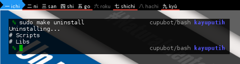 BASH: Telegram Bot: Makefile Uninstall