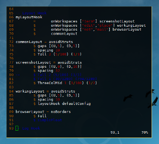 Haskell Dollar Syntax in XMonad Layout
