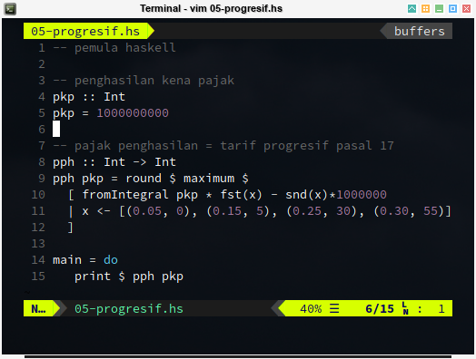 Haskell: Progressive Tax Tariff Code