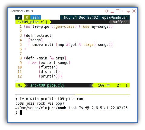 Clojure: Pipe using Thread Last Operator