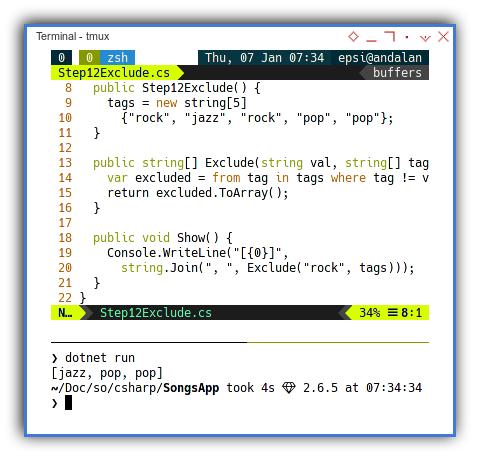 .NET C#: Exclude Function
