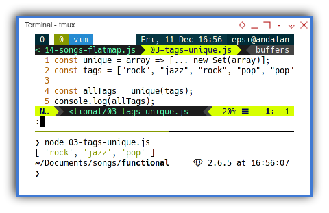 Songs: Functional Programming: Unique Tags