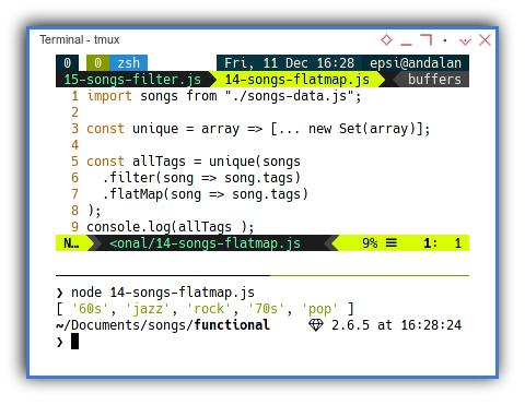 Songs: Functional Programming: Example Source Code