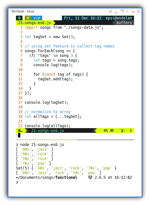 Songs: Imperative Programming: Example Source Code