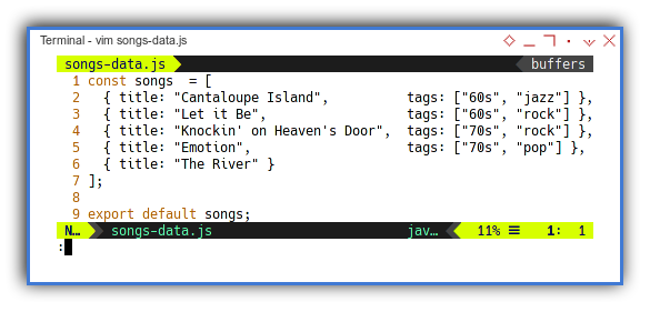 Songs: Example Data