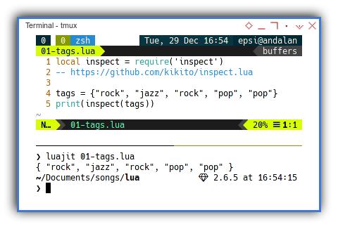 Lua: Simple List of Tags