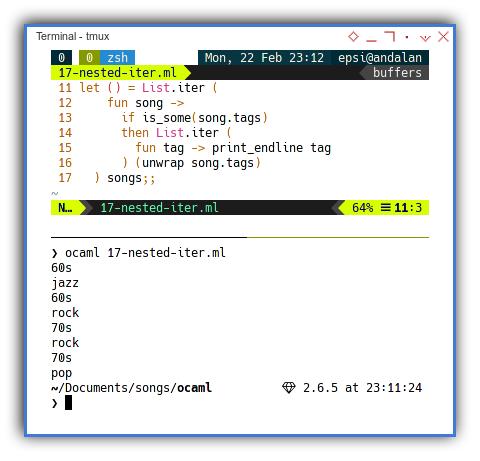 OCaml: Imperative using Nested Iterator