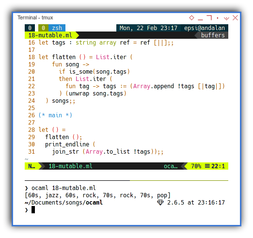 OCaml: Mutable Variable
