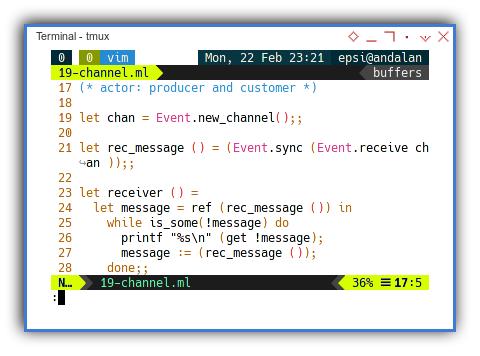 OCaml: Concurrency Actor: Receiver