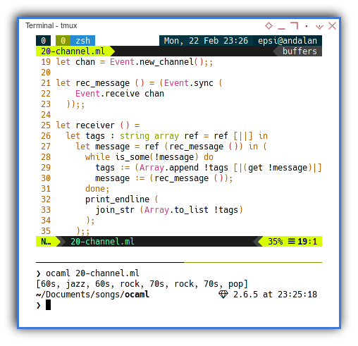 OCaml: Concurrency with Channel