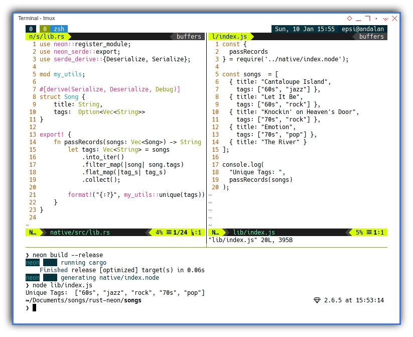 Rust Native NodeJS: Passing JSON
