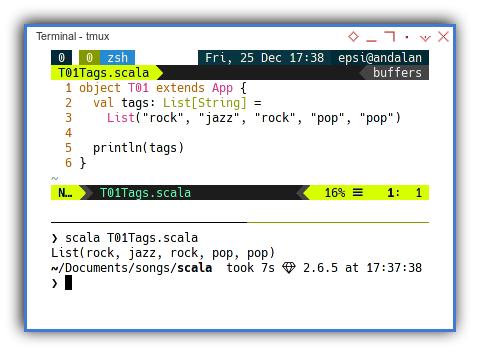 Scala: Simple List of Tags