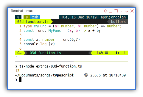 Typescript: Simple Example of Type Synonym as Function Signature