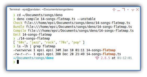 Typescript: Deno Compile Size Issue