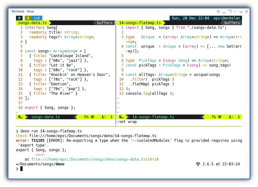 Typescript: Deno Export Interface Issue