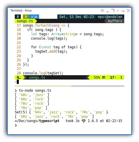 Typescript: ts-node: succeed