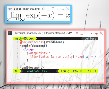 LaTeX: Source and PNG Result